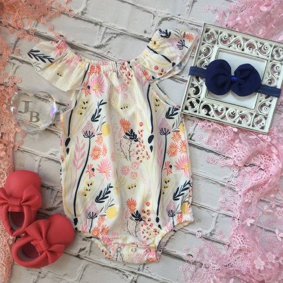 040d3ff53 Boutique Baby Girl Bubble Romper   Headband Boutique
